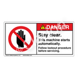 Danger/Stay Clear Label (H6008-44DH)