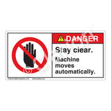 Danger/Stay Clear Label (H6008-86DH)