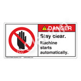 Danger/Stay Clear Label (H6008-KDDH)