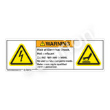 Warning/Risk of Electrical Shock Label (H6010/1024-286WH)