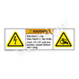 Warning/Electrical and Mechanical Label (H6010/1222-680WH)
