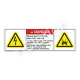Danger/Shock And Arc Flash Label (H6010/6006-K07DH)