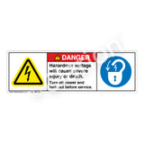 Danger/Hazardous Voltage Label (H6010/6011-4LDH)