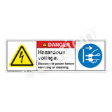 Danger/Hazardous Voltage Label (H6010/6032-CJDH)