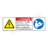 Danger/Hazardous Voltage Label (H6010/6127-PMDH)