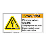 Warning/Electrocution Hazard Label (H6010-201WH)