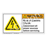 Warning/Risk of Electric Shock Label (H6010-448WH)