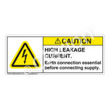 Caution/High Leakage Current Label (H6010-459CH)