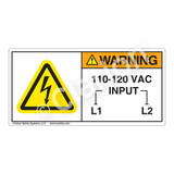 Warning/110-120 VAC Label (H6010-4MWH)