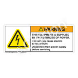 Warning/This Equipment Is Supplied Label (H6010-574WH)