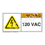 Warning/120 Vac Label (H6010-703WH)