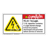 Danger/High Voltage Label (H6010-7SDH)