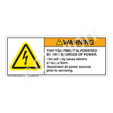 Warning/This Equipment Is Powered Label (H6010-B08WH)