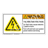 Warning/Hazardous Voltage Label (H6010-B1WH)