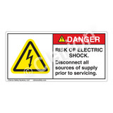 Danger/Risk of Electric Shock Label (H6010-BDDH)