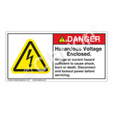 Danger/Hazardous Voltage Enclosed Label (H6010-EBDH)