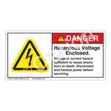 Danger/Hazardous Voltage Enclosed Label (H6010-EBDH)