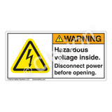 Warning/Hazardous Voltage Label (H6010-H3WHP)