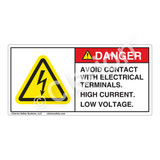 Danger/Avoid Contact Label (H6010-K58DH)