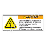 Warning/This Equipment Is Supplied Label (H6010-MTWH)