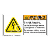 Warning/Shock Hazard Label (H6010-N92WH)