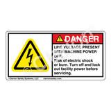 Danger/Line Voltage Present Label (H6010-PKDH)