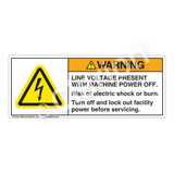 Warning/Line Voltage Present Label (H6010-PKWH)