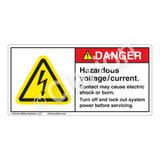 Danger/Hazardous Voltage Label (H6010-SFDH)