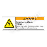 Warning/Hazardous Voltage Label (H6010-SPWH)