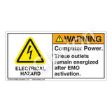 Warning/Computer Power Label (H6010-TXWH)