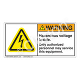 Warning/Hazardous Voltage Inside Label (H6010-X7WH)