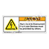 Warning/Disconnect & Overcurrent Label (H6010-XZWH)