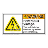 Warning/Hazardous Voltage Label (H6010-Y5WH)