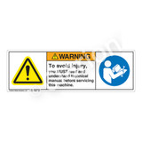 Warning/To Avoid Injury Label (H6014/6127-PAWH)