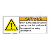 Warning/Only Authorized Label (H6014-08WH)