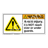 Warning/Avoid Injury Label (H6014-158WH)