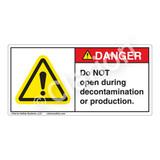 Danger/Do Not Open Label (H6014-N10DH)