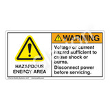 Warning/Hazardous Energy Area Label (H6014-RDWH)