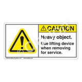 Caution/Heavy Object Label (H6014-RGCH)