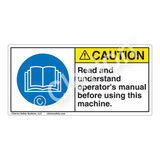 Caution/Read and Understand Label (H6017-DACH)