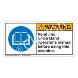 Warning/Read And Understand Label (H6017-DAWH)