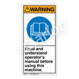 Warning/Read and Understand Label (H6017-DAWV)
