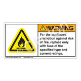 Warning/For The Continued Label (H6020-E4WH)