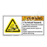 Warning/Chemical Hazard Label (H6023-431WH)