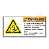 Warning/Chemical Hazard Label (H6023-431WH)