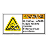 Warning/Chemical Hazard Label (H6023-ARWH)