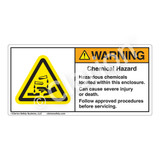 Warning/Chemical Hazard Label (H6023-BMWH)