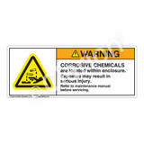Warning/Corrosive Chemicals Label (H6023-NHWH)