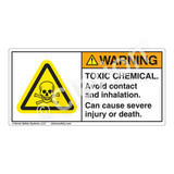 Warning/Toxic Chemical Label (H6024-ASWH)
