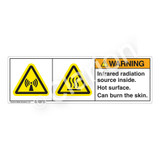 Warning/Infrared Radiation Source Label (H6027/6043-3RWH)